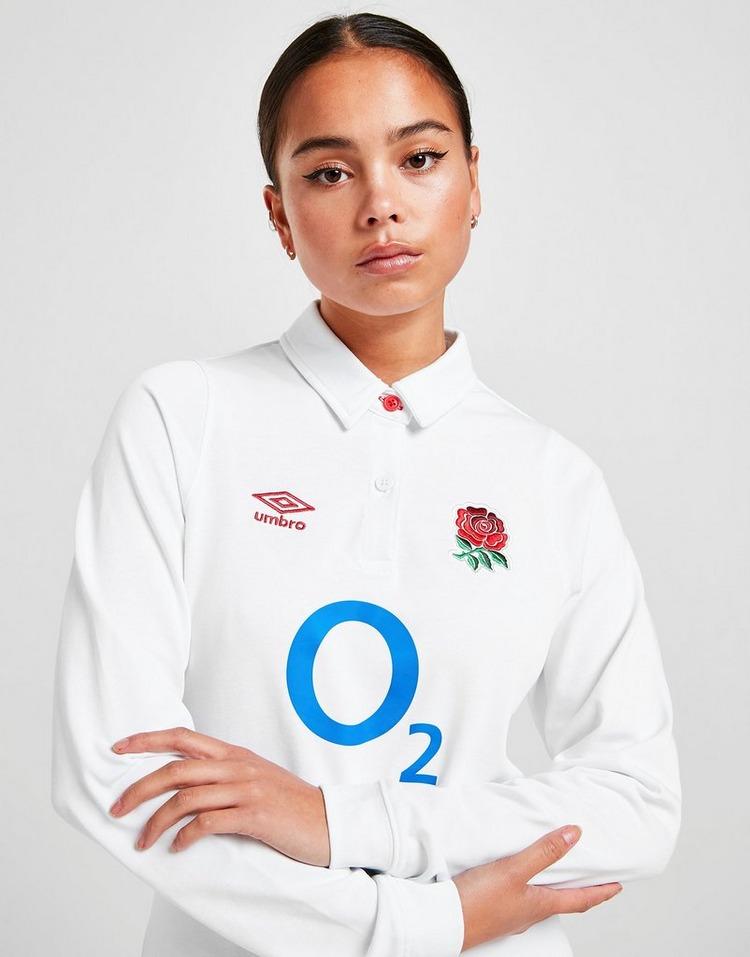 Umbro England RFU 2020 Home Long Sleeve Maglia da calcio Donna