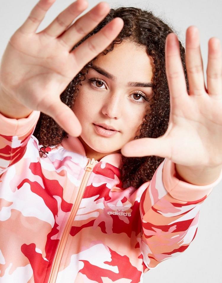 adidas Originals Girls' Camo All Over Print SS Track Top Junior