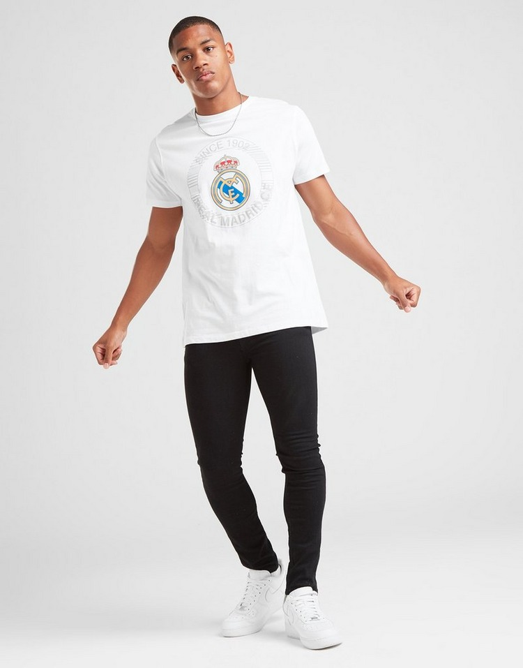 Official Team Real Madrid Crest Short Sleeve T-Shirt Men's