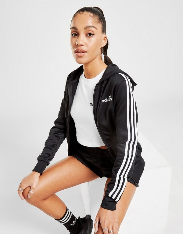 Shop den adidas Originals 3 Stripes Linear Poly Full Zip