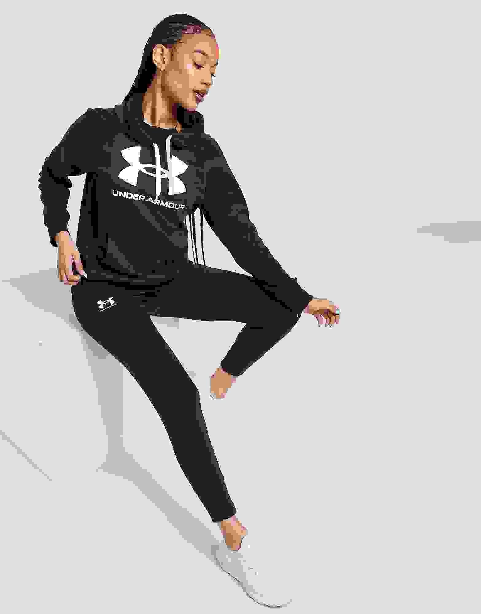 Under Armour Rival pour Femme en Polaire Pantalon De Survêtement-Noir