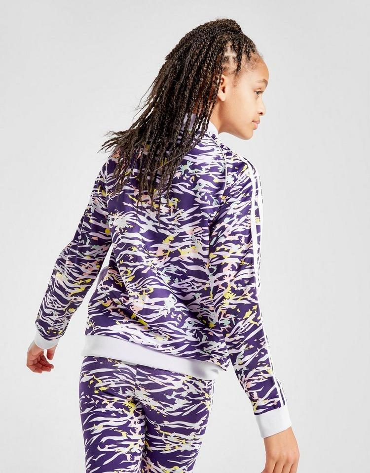 adidas Originals Girls' All Over Print SS Track Top