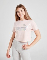 Puma Girls' Core Crop Foil T-Shirt Junior