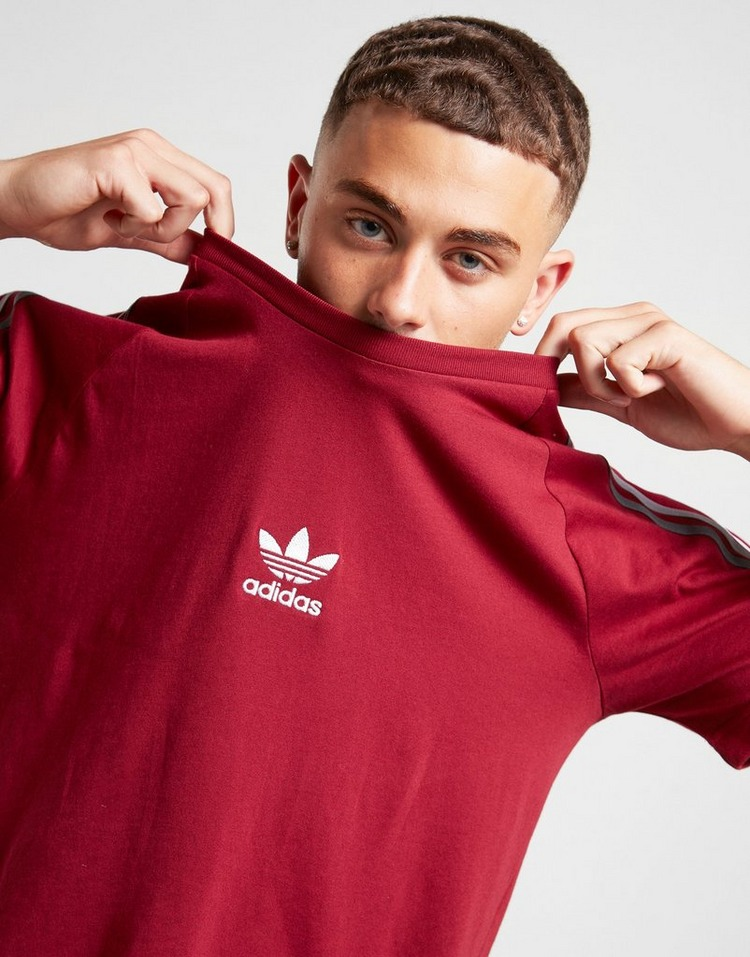 Acheter Red adidas Originals T Shirt Tri Stripe Homme | JD