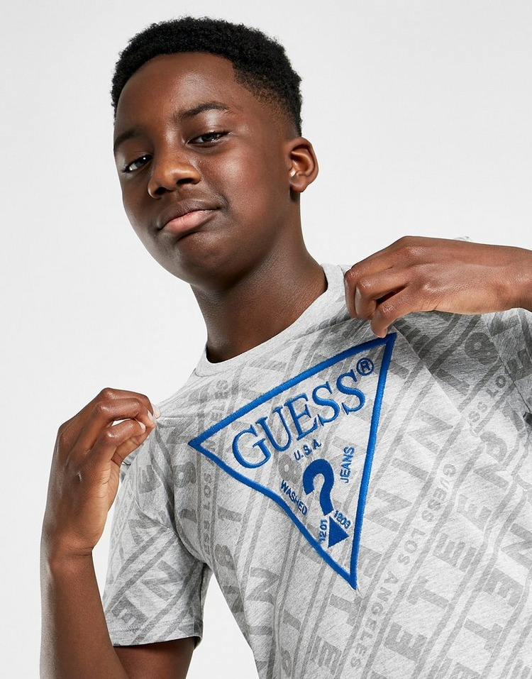 GUESS All Over Print Triangle T-Shirt Junior
