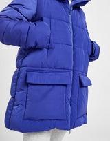 Champion Script Hood Long Padded Jacket