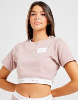 Il Sarto Ribbed Logo Crop T-Shirt