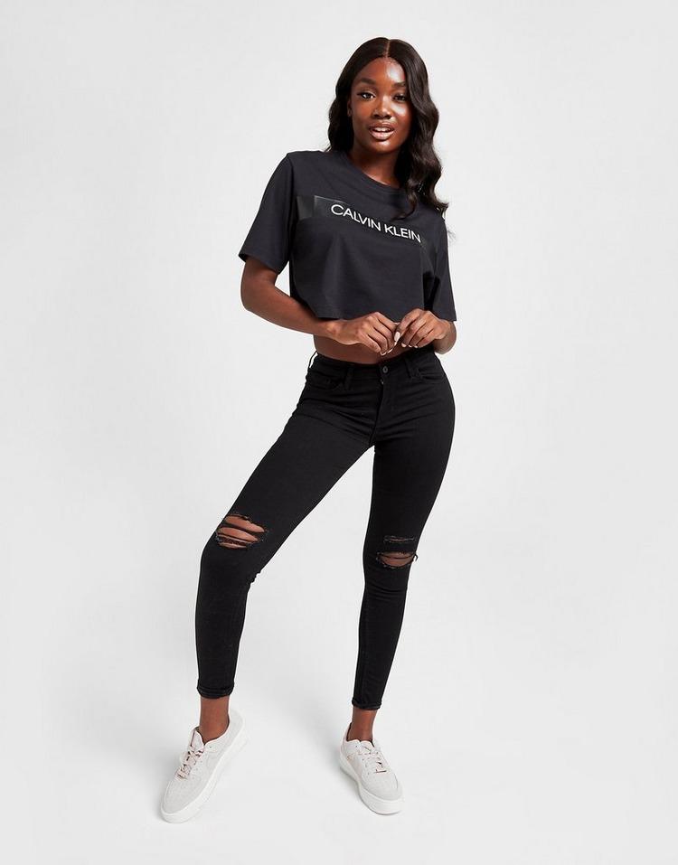 Calvin Klein Tape Crop T-Shirt