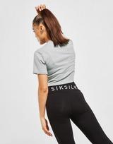 SikSilk Rib Crop Logo T-Shirt