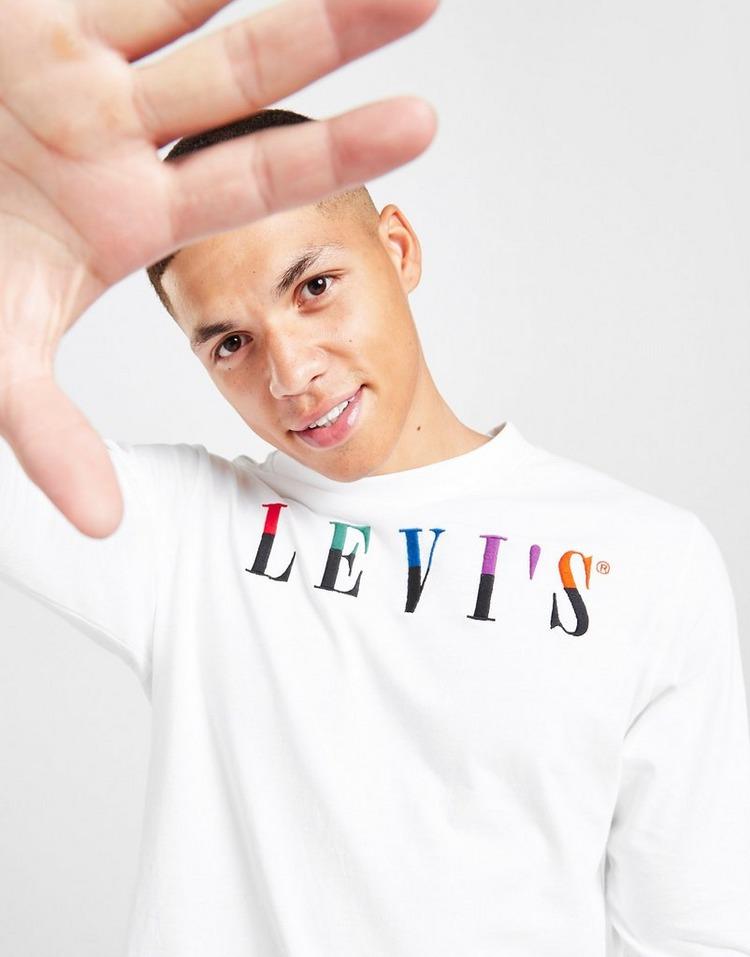 Levis Rainbow Serif Large Logo T-Shirt