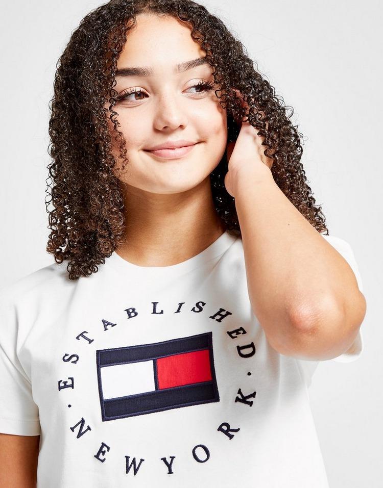 Tommy Hilfiger Girls' Heritage Logo T-Shirt Junior