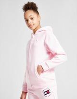 Tommy Hilfiger Girls' Heritage Logo Zip Through Hoodie Junior
