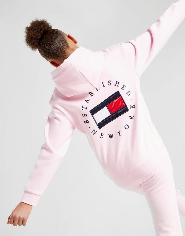 Tommy Hilfiger Girls' Heritage Logo Felpa con cappuccio Junior