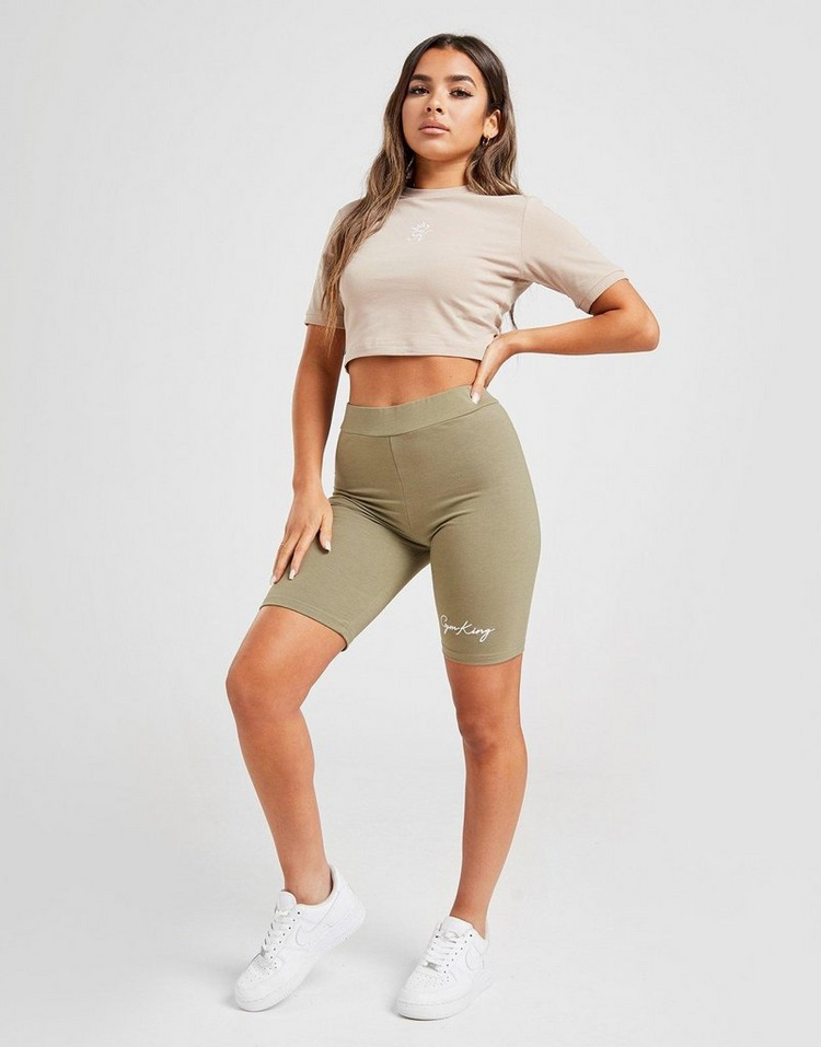 Gym King Stripe Rib Crop T-Shirt Women's