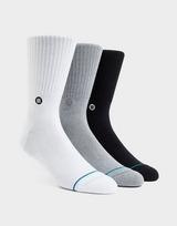 Stance 3 Pack Icon Socks