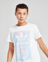 adidas Originals camiseta Trefoil Tie Dye Box Logo júnior
