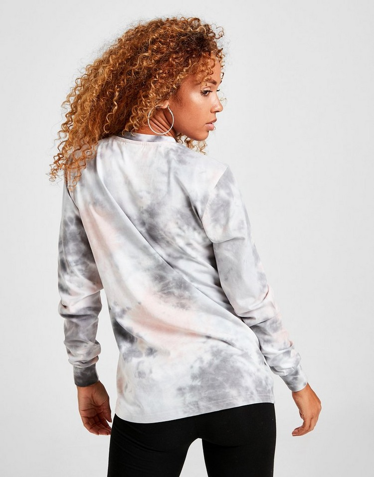 Ellesse Tie Dye All Over Print Long Sleeve T-Shirt