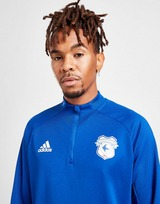adidas Cardiff City FC 1/4 Zip Training Top
