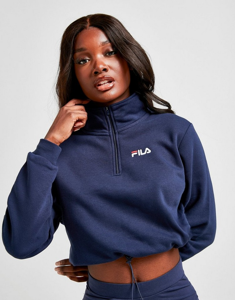 Fila Sweatshirt Logo 1/4 Zippé Femme;;;
