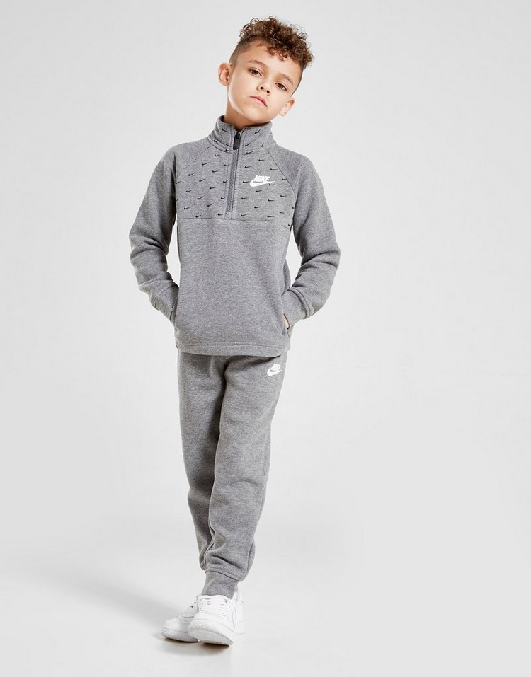 Nike Swoosh All Over Print 1/4 Zip Tracksuit Children