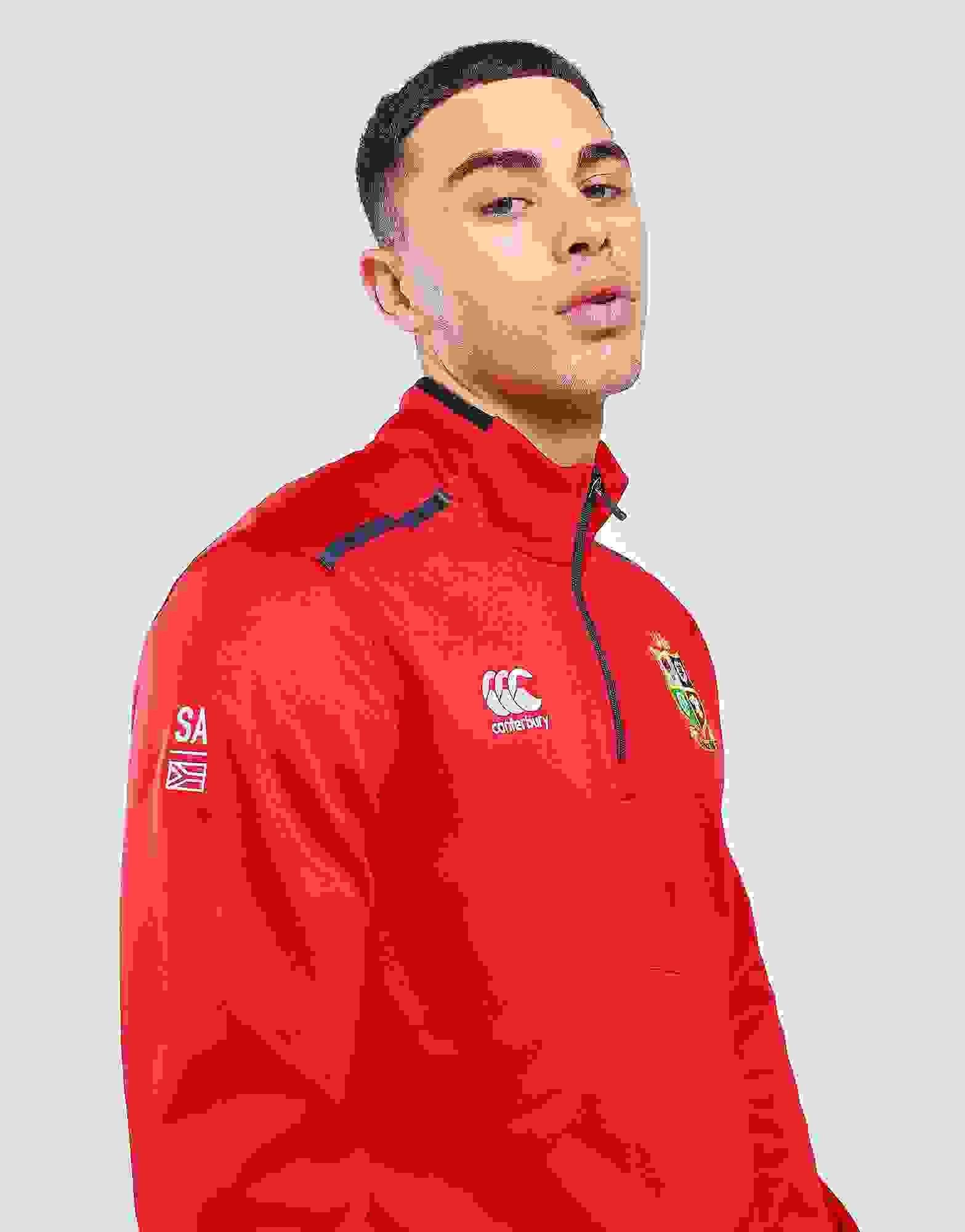 CCC British /& Irish Lions Thermoreg Thermal Layer Quarter Zip Fleece Jacket