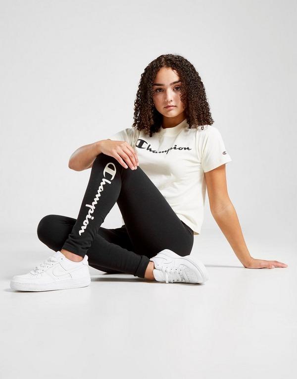 Shop Den Champion Legacy Logo Leggings Kinder In Schwarz