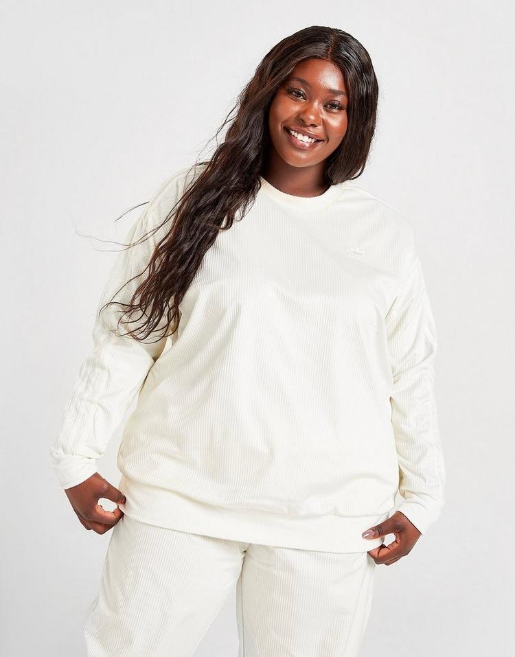 adidas Originals Plus Size Cord Crew Sweatshirt
