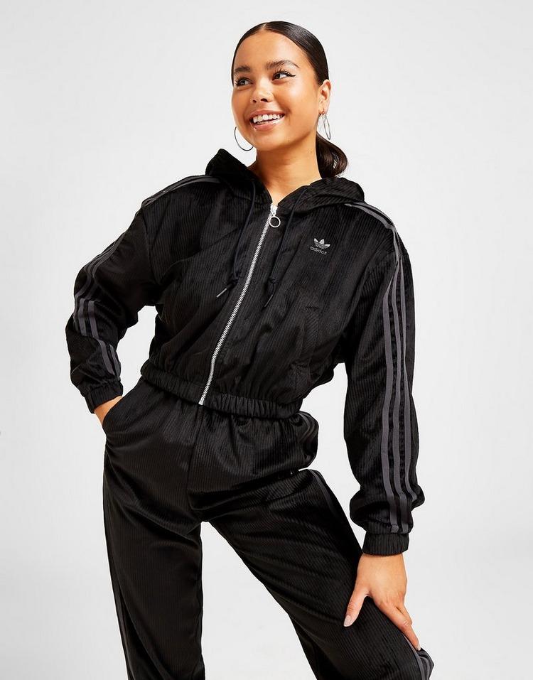 adidas Originals Corduroy Crop Full Zip Hoodie