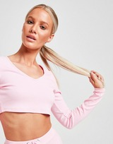 Sixth June Long Sleeve Ribbed Crop Top