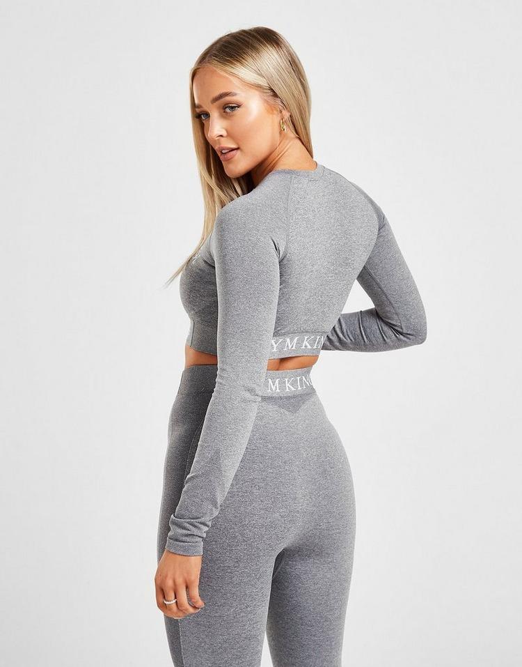 Gym King Core Seamless Long Sleeve Crop Top