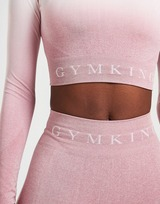 Gym King Ombre Seamless Long-Sleeve Crop Top Donna