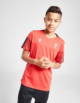 Macron Wales RU Training Short Sleeve Shirt Junior