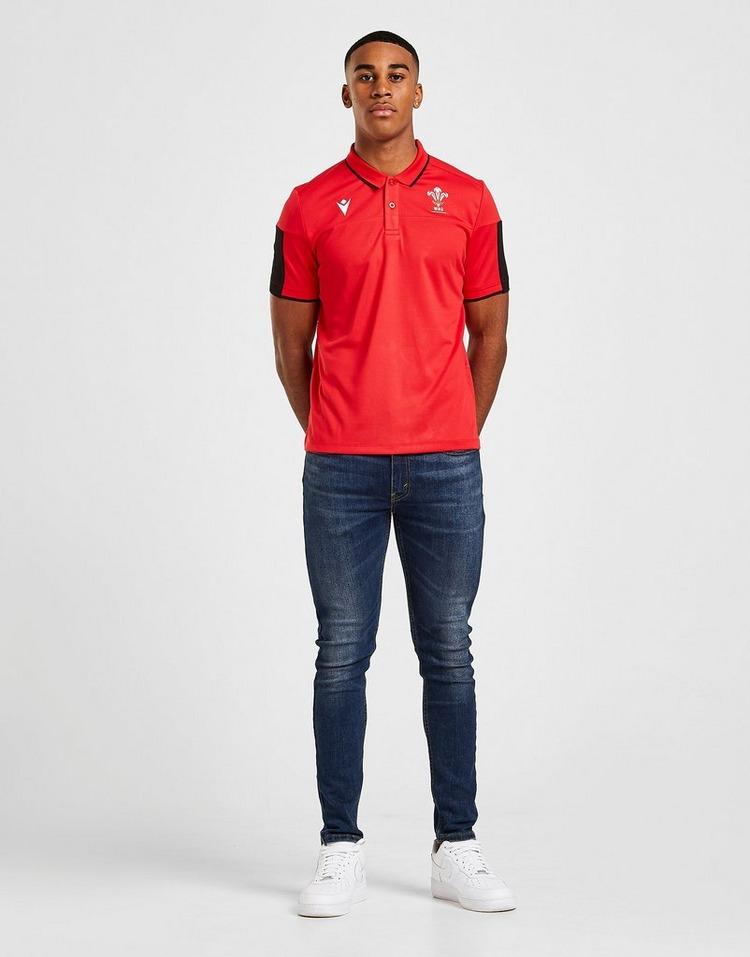 Macron Wales RU Tech Polo Shirt
