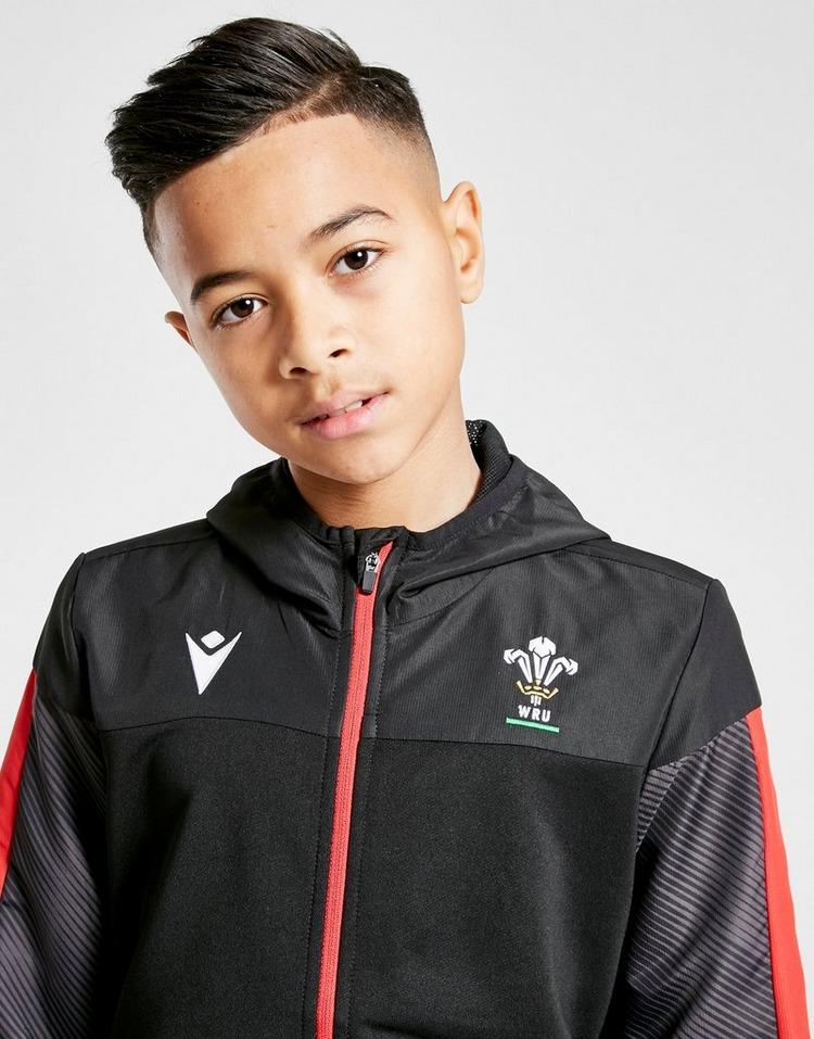 Macron Wales RU Full Zip Hoodie Junior