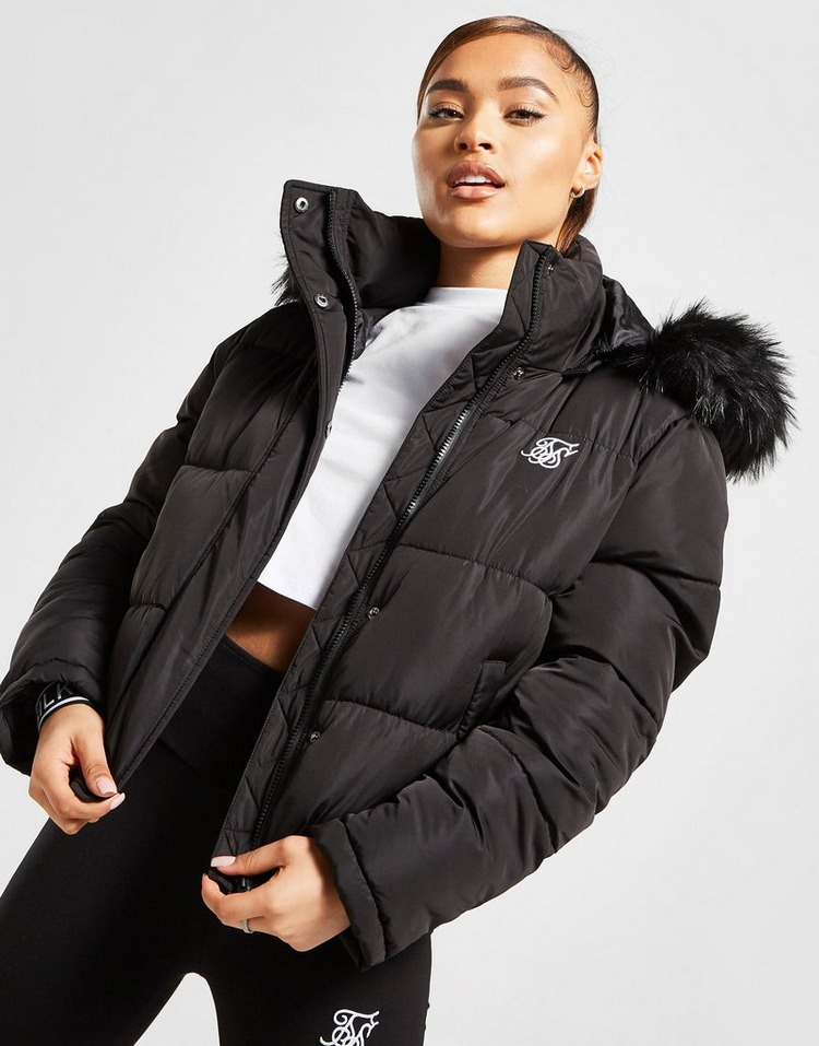 SikSilk Fur Padded Jacket