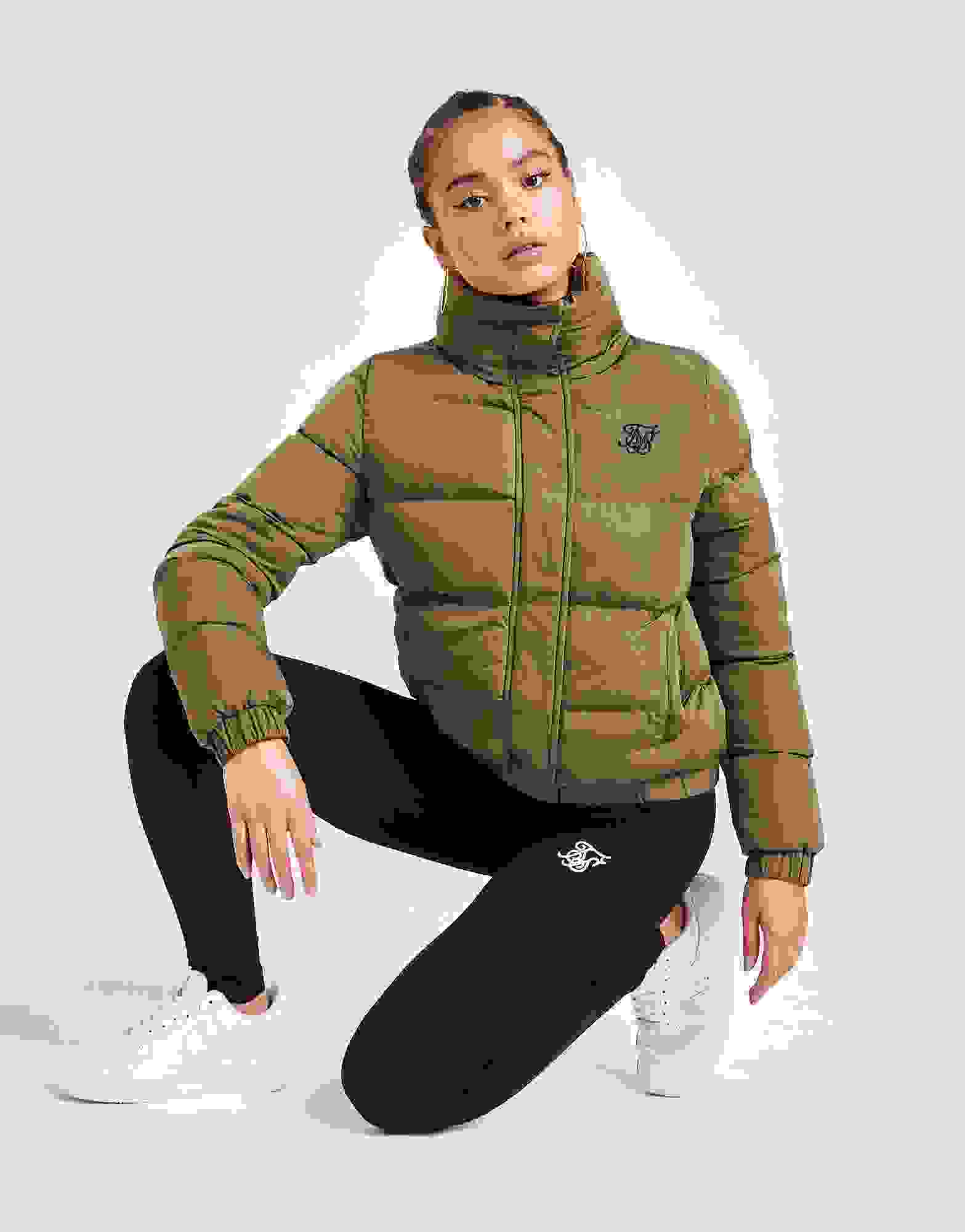 New SikSilk Crop Padded Jacket