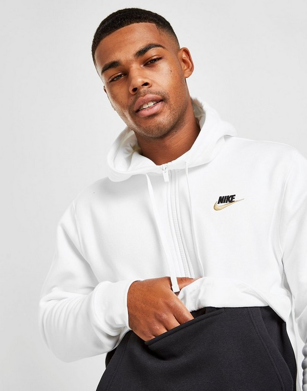 prestar sonido Oblicuo  Buy White Nike Foundation 1/2 Zip Hoodie | JD Sports