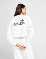 adidas Originals Linear Glossy Crop Crew Sweatshirt