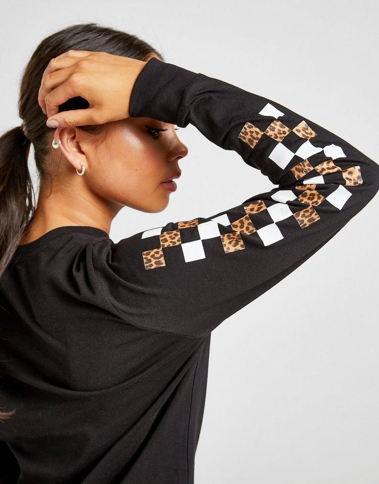 Vans Leopard Long Sleeve Boyfriend T-Shirt