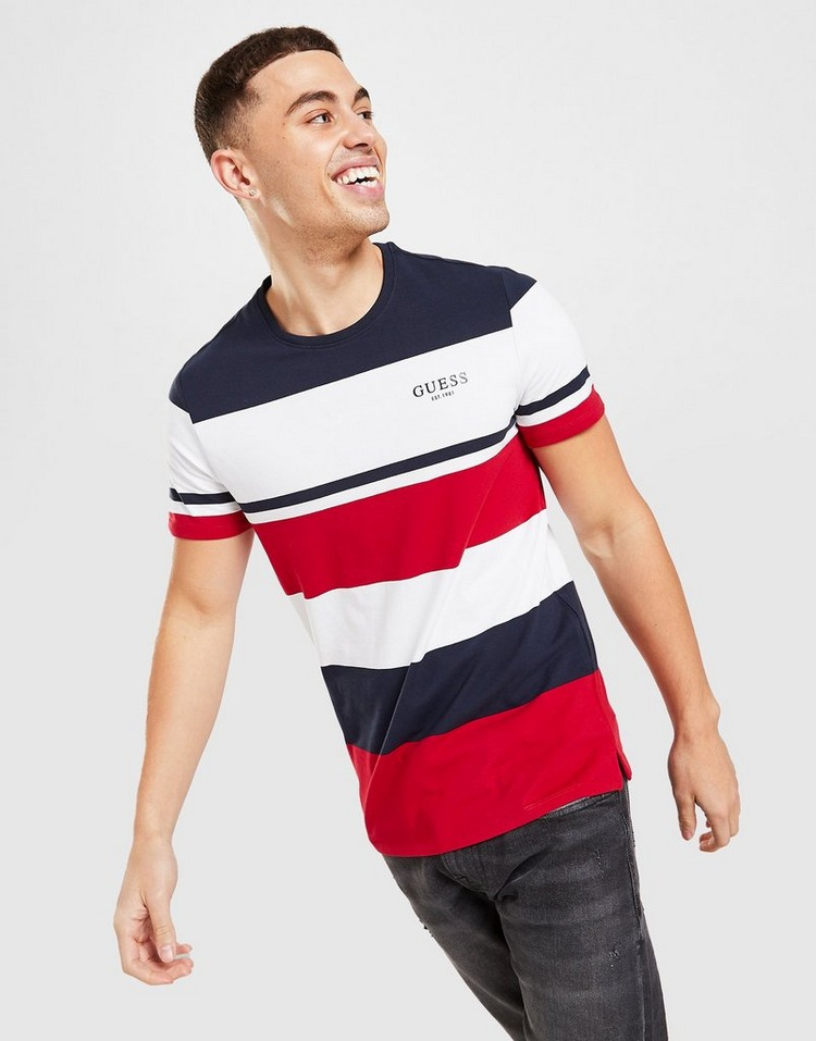 GUESS Stripe Colour Block T-Shirt