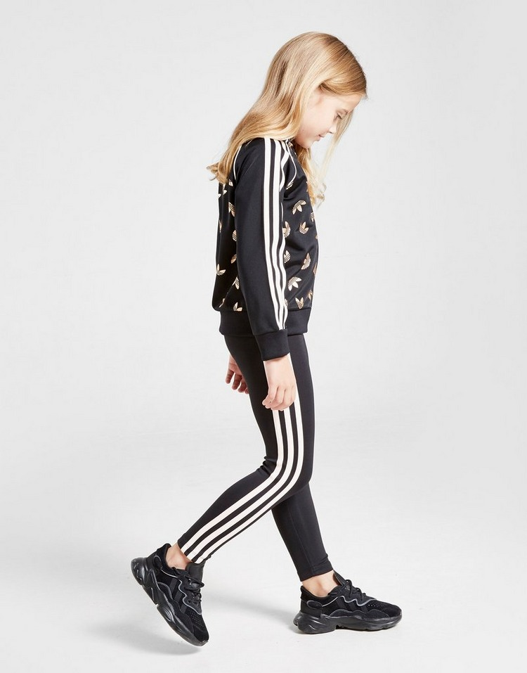 adidas Originals Girls' SS Track Top/Leggins Set Children