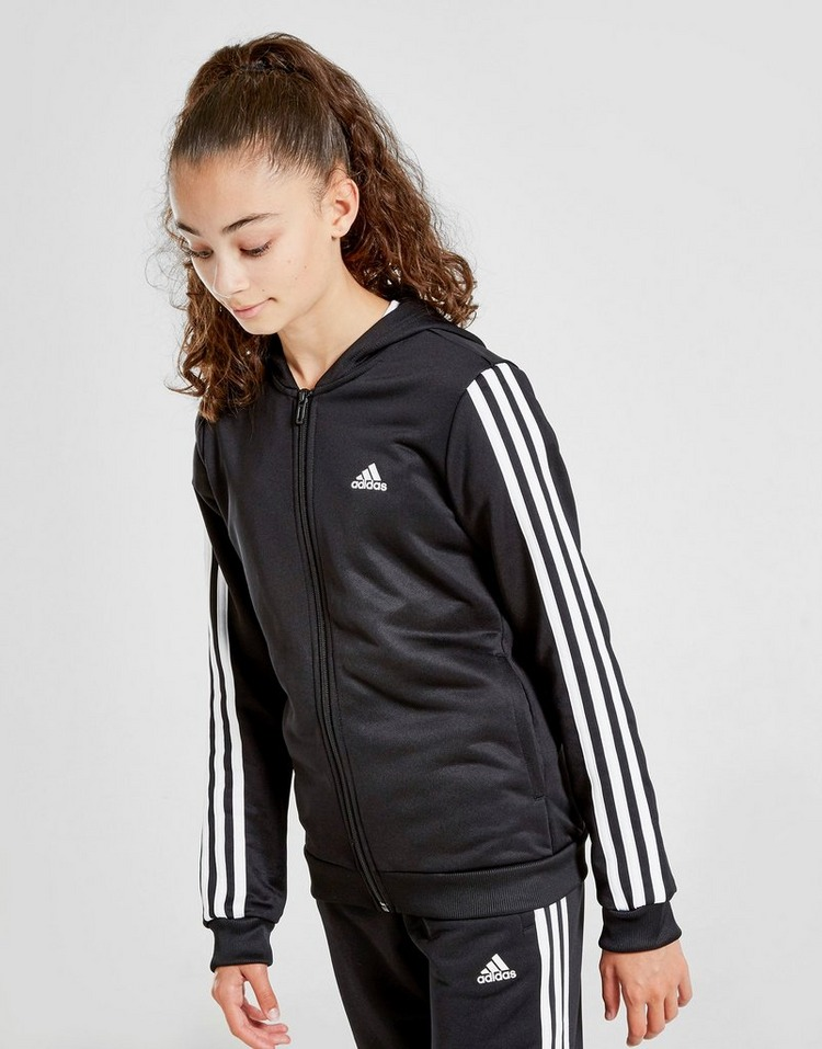 adidas Girls' Badge of Sport Hooded Tracksuit Junior