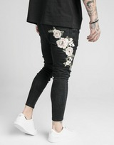 SikSilk Jean Embroidered Homme