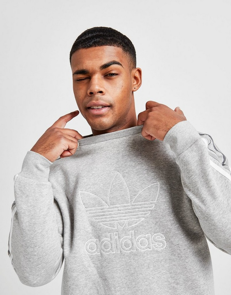 adidas Originals Tri-Tonal 3-Stripes Crew Sweatshirt