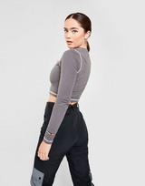 Ellesse Contrast Long-Sleeve Crop T-Shirt