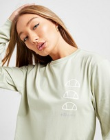Ellesse Repeat Logo Long Sleeve T-Shirt Donna