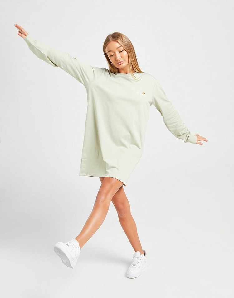 Ellesse Core Logo Long Sleeve T-Shirt Dress