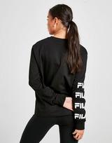 Fila Repeat Logo Long Sleeve Boyfriend T-Shirt