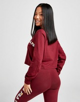 Fila Repeat Logo Long Sleeve Crop T-Shirt