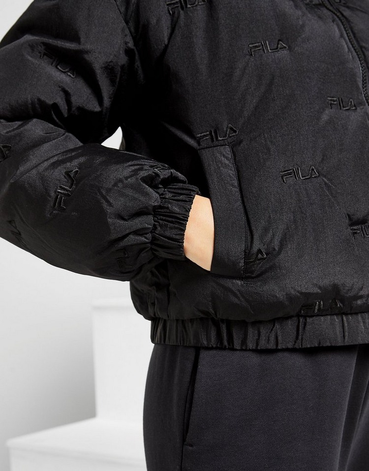 Fila All Over Print Embroidered Padded Jacket
